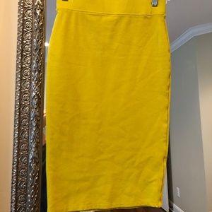 Dresses & Skirts - Lime Green Pencil Skirt Sz S